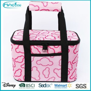 2015 Popular pattern high capacity with 6 can cooler bag for picnic