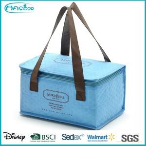 Wholesale custom high capacity 6 bottle wine cooler bag for family
