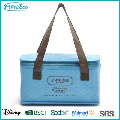 2015 Fashion bule high capacity thermal insulation cooler bag with logo