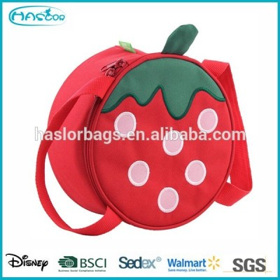 2015 Red Strawberry Round Cooler Bag for Girls