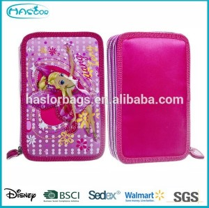 Wholesale 3 Layers Pencil Case/Fashion Custom Pencil Case