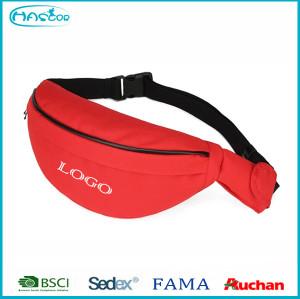 cheap 3 pocket nylon fanny pack with custom logo