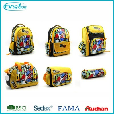 2015 fashion wholesale cheap child school bag