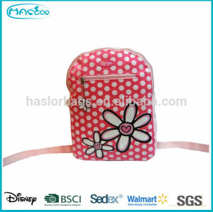 Hotselling New Design and Fashion Pink PU Kids Backpack/School bag