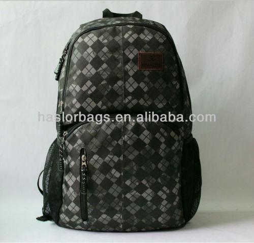 Hot! Tissu à carreaux sac à dos aventure en plein air sac à dos
