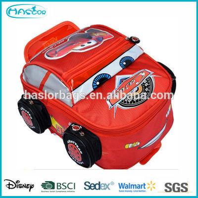Cute Backpack School Cars Shape for Boy