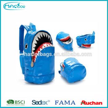 Shark drôle forme grande école sac à dos pour garçon