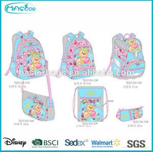 Kids School Bag Set with Pencil Bag/Shoe Bag /Backpack/Shoulder Bag