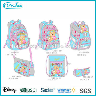 Kids School Bag Set with Pencil Bag/Shoe Bag /Backpack/Shoulder Bag