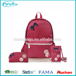 2015 Fashion High Class Student School Bag Set for Girl