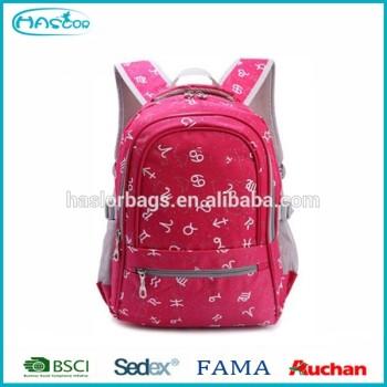 2015 New dernière marque de l'exportation école sac pour enfants