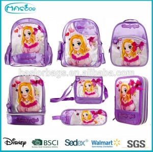 Latest Fashion Kids School Backpack / Princess School Bag for Girls