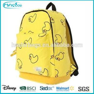2015 jaune toile nouveau Design haut de gamme en sac d'école des élèves