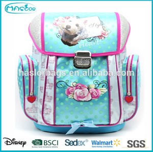 2014 fashion girl school bag with customized printing