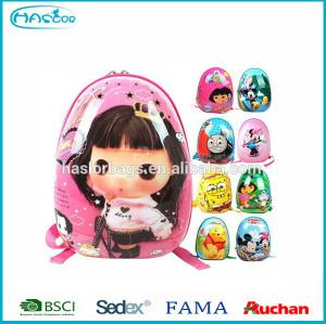 Hot Sell Egg Shell Shape Backpack Ben 10 School Bag for Kids
