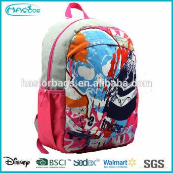 2015 populaire coloré durable fantaisie motif sac à dos avec usine prix
