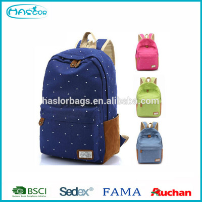 2015 Primary Canvas Cute Backpack for High School Girls