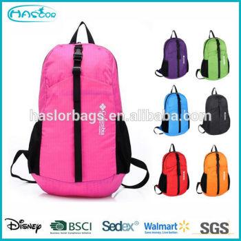 Promotion multicolore Nylon filles sacs d'école Backpak