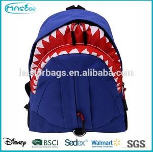 2015 tendance 3D cartoon enfants sac à dos de requin