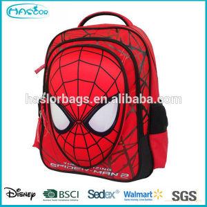 2015 cute design school backpack spider man for children