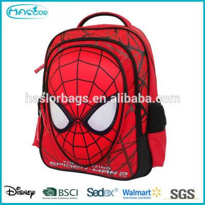 2015 mignon sac d'école de design spider man pour enfants