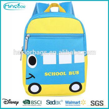 Adorable carton autobus scolaire motif sacs à dos d'âge préscolaire pour enfants
