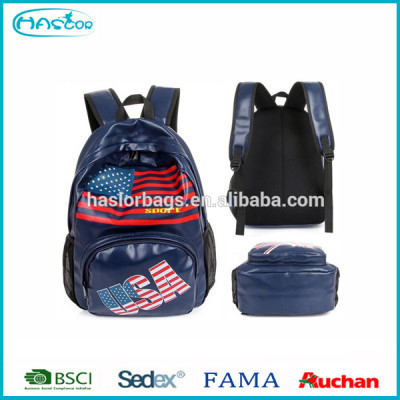 PU Leather Backpack for School With Printing