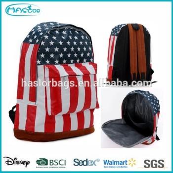 Mode drapeau américain sacs à dos pour adolescent