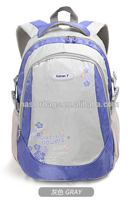 2015 New design lovely and beautiful pattern school backpack for girls