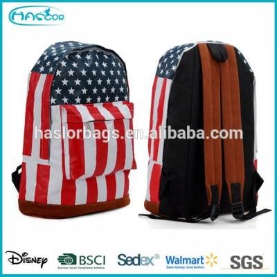 Leisure Canvas School Bag / American Backpack for Teenager