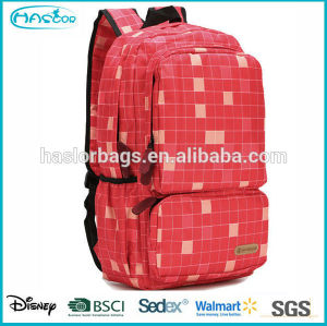 Hot selling beautiful check pattern school backpacks used with China factory