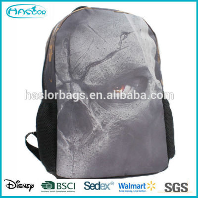 Newest fashion canvas bag and cool pattern backpack for boys