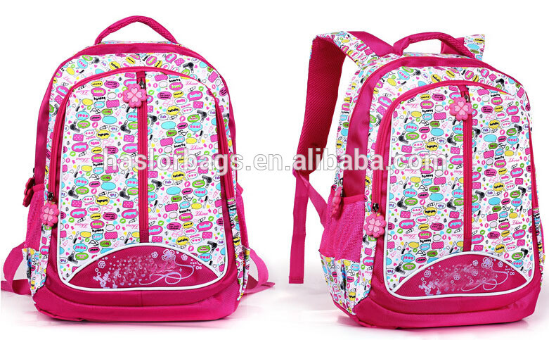 2015 New Design of Girl Custom Book Bags with Logo
