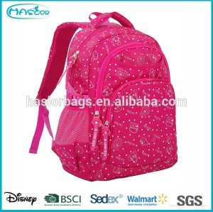 Fashion Girl School Bag with Glitter Printing
