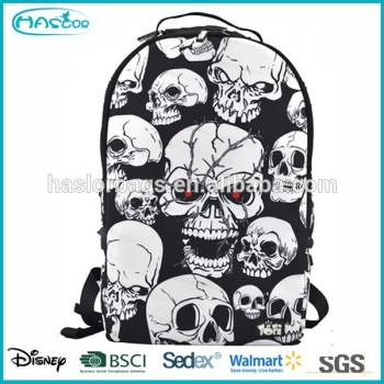 Impression personnalisée crâne sac d'école pour les étudiants
