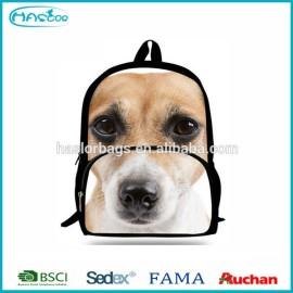 2015 nouveau Design de chien mignon impression sac à dos pour le Sport