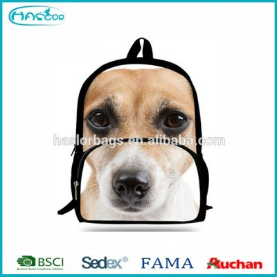 2015 New Design of Cute Dog Print Backpack for Sport