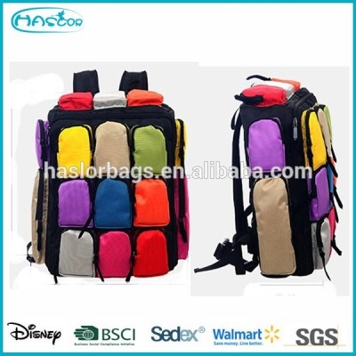 Quilted Backpack with Many Pockets for Teenager
