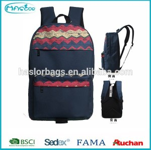 Newest custom beautiful pattern trendy college bags 2015