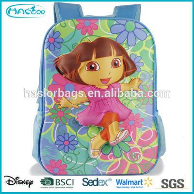 Pretty cartoon girl pattern 3d school bag for girls