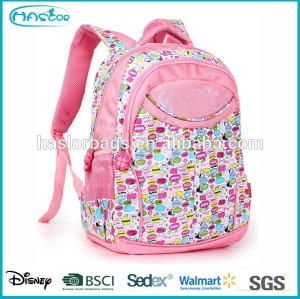 2015 New Design of Chinese School Bag for Girl