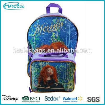 kid school backpack with detachable lunch bag
