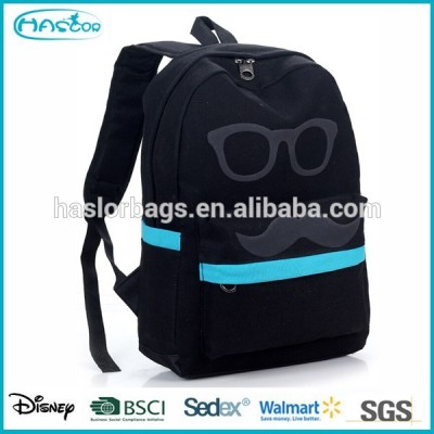 Cute Glasses Printing Stylish College Bag /College Bags for Girls