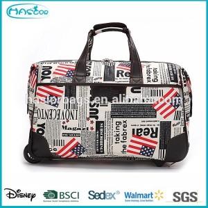 Waterproof wheeled duffle bag with high quality
