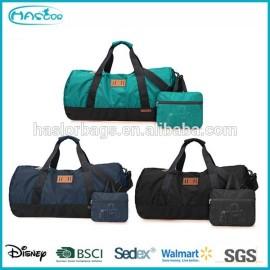 Mode conçu sac polochon en nylon, Pliable sac de voyage