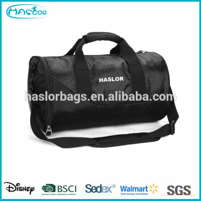 Gym mens sports duffle bag with shoe compartment