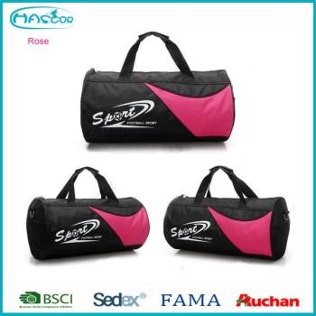 2016 Noir polyester ronde sport sac avec poignées
