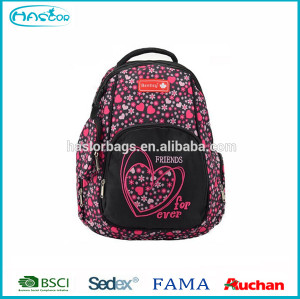 Newest high funny school floral print canvas backpacks