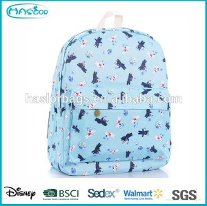 Lovely dog school backpack bag for teenage