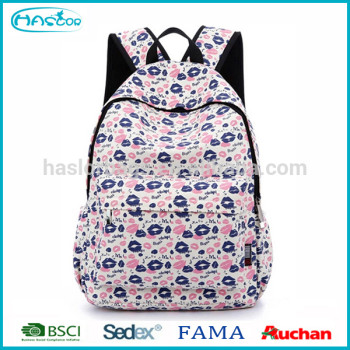 2015 dernières hot élégant motif sacs d'école en vente